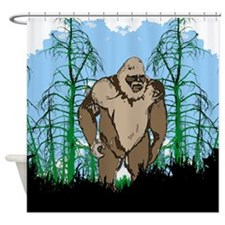 Bigfoot in timber Shower Curtain