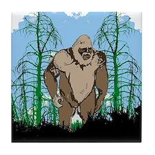 Bigfoot in timber Tile Coaster