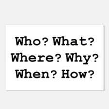 who what why Postcards (Package of 8)