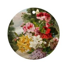 John Wainwright's painting, Floral  Round Ornament
