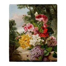 John Wainwright's painting, Floral S Throw Blanket