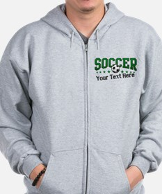 Soccer Personalized Zip Hoody