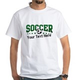 Personalized soccer Mens White T-shirts