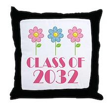 Class of 2032 (butterfly) Throw Pillow
