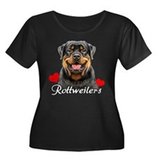 Rottie-Heart-tee blk Plus Size T-Shirt