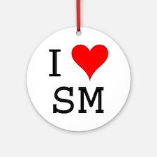I Love SM Ornament (Round)