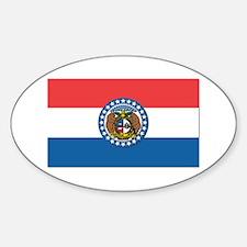 Flag of Missouri Sticker (Oval)