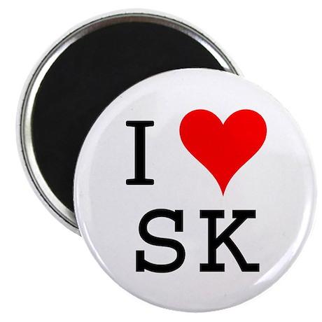 I Love SK Magnet
