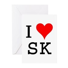 I Love SK Greeting Cards (Pk of 10)