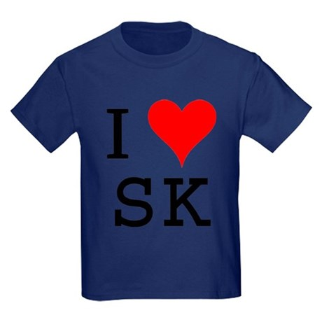 I Love SK Kids Dark T-Shirt