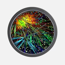 Fireworks in July Wall Clock
