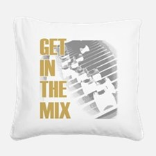 Get In the Mix Square Canvas Pillow