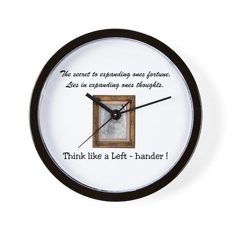 Think like a Left-hander Wall Clock