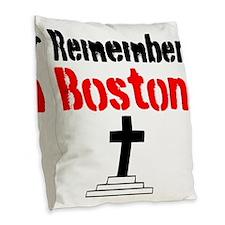 Remember Boston Burlap Throw Pillow