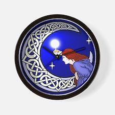 Celtic Moon Woman Wall Clock