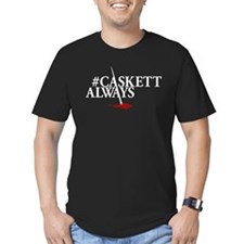 #CASKETTALWAYS Men's Fitted T-Shirt (dark)