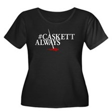 #CASKETT Women's Plus Size Scoop Neck Dark T-Shirt