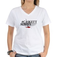 #CASKETTALWAYS Women's V-Neck T-Shirt