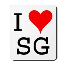 I Love SG Mousepad