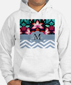 Monogram with ZigZag and Floral Hoodie