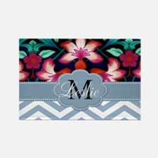 Monogram with ZigZag and Floral Magnets
