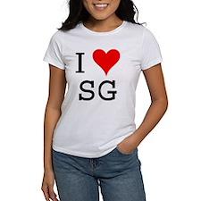 I Love SG Tee
