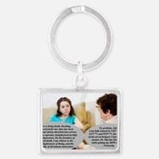 The clueless social worker Landscape Keychain