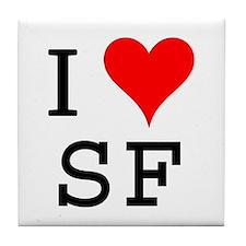 I Love SF Tile Coaster