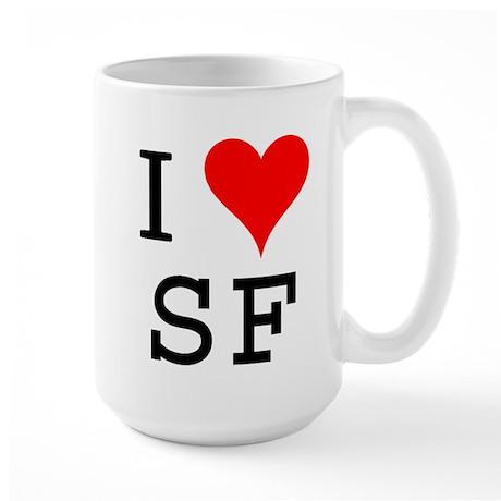 I Love SF Large Mug