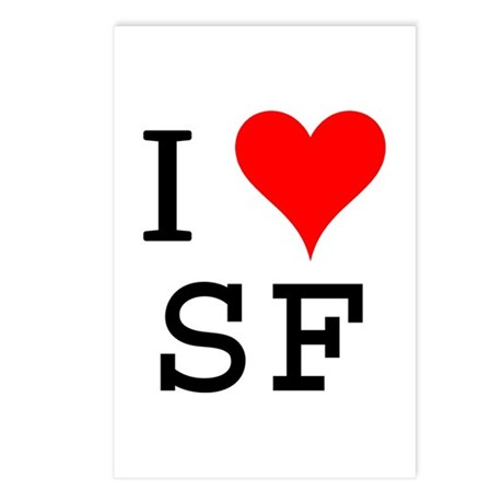 I Love SF Postcards (Package of 8)