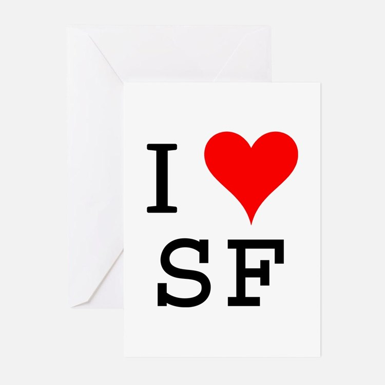 I Love SF Greeting Cards (Pk of 10)