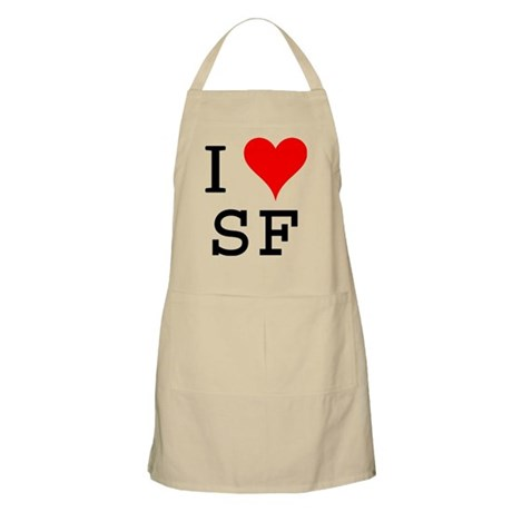 I Love SF BBQ Apron
