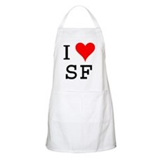 I Love SF BBQ Apron