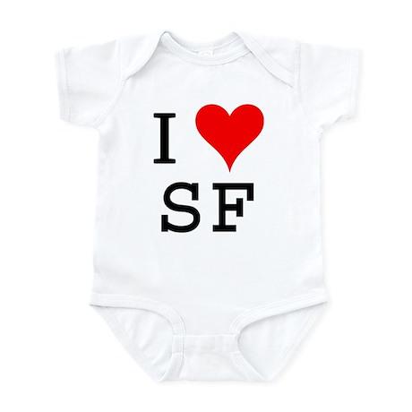 I Love SF Infant Bodysuit