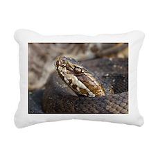 Water Moccasin Rectangular Canvas Pillow