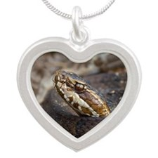 Water Moccasin Silver Heart Necklace