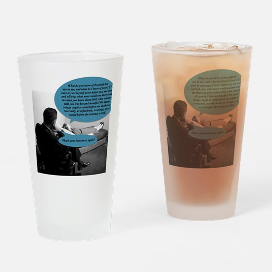 The greedy psychoanalyst Drinking Glass
