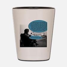 The greedy psychoanalyst Shot Glass