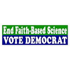 End Faith-Based Science: Vote Democrat