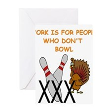 BOWLING3 Greeting Cards