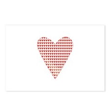 Hearts Poker Cards Postcards (Package of 8)