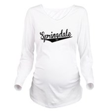 Springdale, Retro, Long Sleeve Maternity T-Shirt