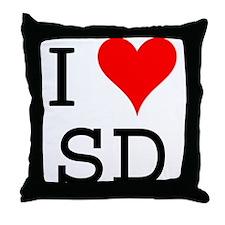 I Love SD Throw Pillow