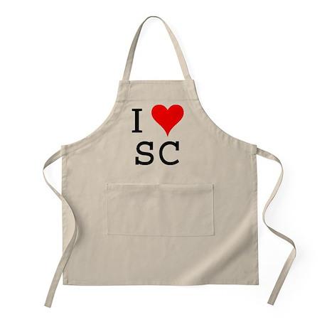I Love SC BBQ Apron