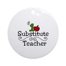 Substitute Teacher Ornament (Round)
