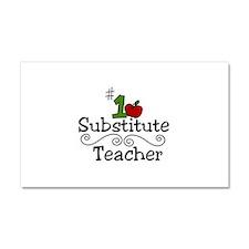 Substitute Teacher Car Magnet 20 x 12