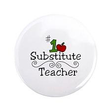 """Substitute Teacher 3.5"""" Button (100 pack)"""
