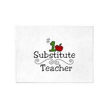 Substitute Teacher 5'x7'Area Rug