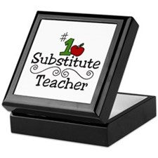 Substitute Teacher Keepsake Box