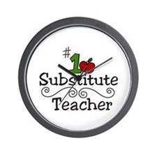 Substitute Teacher Wall Clock